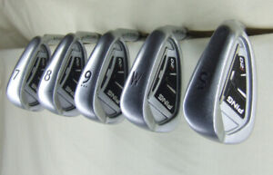 PING ... i20 irons ... 7, 8, 9, Pitching  Wedge, Sand Wedge