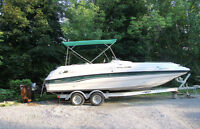 1997 Sunesta 25ft Deck Boat & Trailer - Great Family Boat