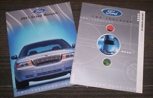 Ford Grand Marquis sales brochures 2000 2001 mint condition