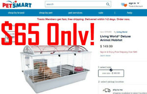 Living World Small Animal Cage Habitat Rabbit Hedgehog Mouse PIg