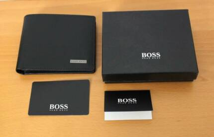 Hugo Boss Black Leather Wallet, RRP: $249.95, New in box with bag City North Canberra Preview