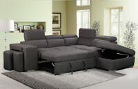 Huge sale on sectionals with pull out bed, recliners sofa more