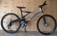 Cannondale Rush Dual Suspension Lefty Mountain Bike Size M NEGO