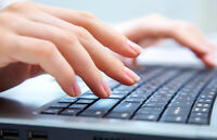 Editing, typing, formatting, transcription, resume  services