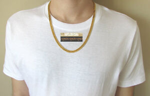 NEW 9K Yellow Gold Filled Men's Link Chain/Chaine