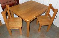 Set cuisine enfant grande table 2 chaises frêne le tout  90$ Laval / North Shore Greater Montréal Preview