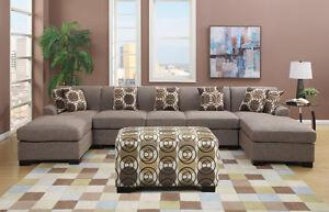 BRAND NEW!  Condo Sized Sandstone Small Sectional Sofa Set! Edmonton Edmonton Area image 4