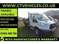 2015 15 Ford Transit 2.2 TDCi 350 125bhp Tipper RWD FORD WARRANTY Tidy van