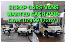CASH ON COLLECTION 4 SCRAP CARS