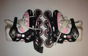 Young girls' roller blades
