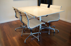 Original Eames Aluminum Group Dining Room Suite