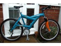 *RARE RALEIGH HT3's ALUMINIUM FRAME BIKE - 24 SPEED WITH SUSPENSION FORK AND DISC BRAKE - SUPERB!!**