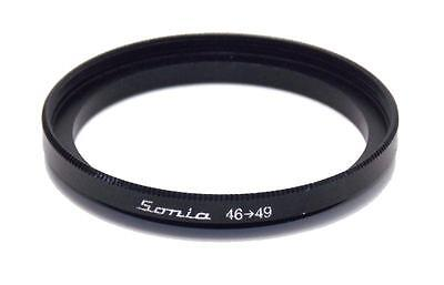 Metal Step up ring 46mm to 49mm 46-49 Sonia New Adapter 46 Mm Metal Step