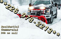 Snow Plowing  /    snow removal Call to book now