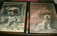 Sad Eyes Puppies - 2 diff. mounted, ready to display