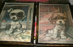 ' Big Eyes ' Puppies 1960's - 2 diff. pics