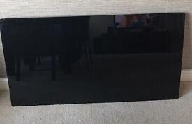 Black glass radiator cover