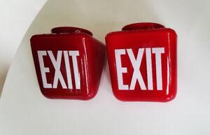 Vintage Art Deco Exit Sign(s)