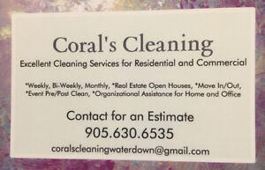 Waterdown and Area Cleaning Services