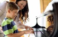 Cours de piano, chant, violon, violoncelle, flûte