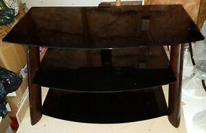 Table de télé en verre