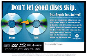 Got Scratched CD's, DVD's, Blu-Ray's or Video Games?