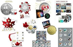 CANADA 150 RCM SILVER COINS & COIN SETS plus CANADA 150 STAMPS