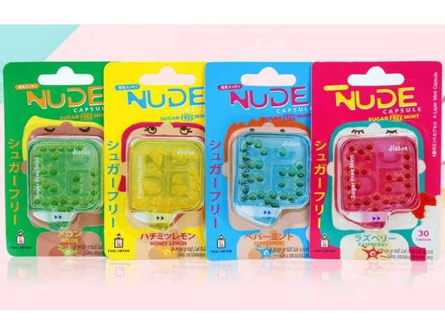 Jintan Nude Sugar Free Mint Breath Candy Peppermint Melon Raspberry Honey Lemon