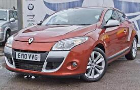 2010 RENAULT MEGANE 1.5 I-MUSIC DCI DIESEL COUPE £30 CAR TAX STUNNING COLOUR SER