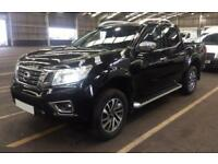 2017 BLACK NISSAN NAVARA 2.3 DCI 4WD TEKNA CREW CAB PICKUP CAR FINANCE FR £83 PW