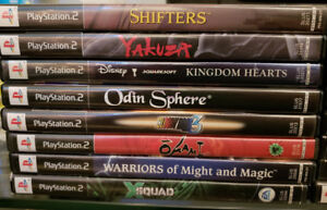 22 PS2 Games, 2 PS1 Games & 6 PSP Games SONY