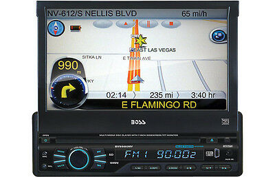 """BOSS BV9980NV IN-DASH 7"""" FLIP-OUT CD/DVD/MP3/IPOD CAR STEREO RECEIVER BLUETOOTH"""