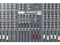 Allen and Heath zed 436 analogue mixing desk