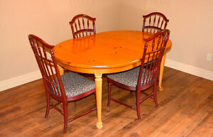 NEW PRICE ....PINE TABLE WITH 4 CHAIRS