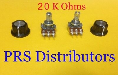 20 K Ohm Linear Panel Mount Volume Control Potentiometer with Knob B20K 2 Sets  for sale  Roslyn Heights