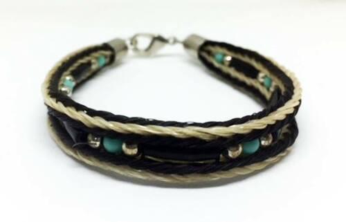 Western Cowboy/Cowgirl Jewelry HANDMADE Woven BEADED Horsehair Bracelet