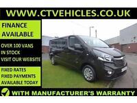 2016 16 Vauxhall Vivaro 1.6CDTi 120PS BiTurbo Sportive 2900 Double Crew cab LWB