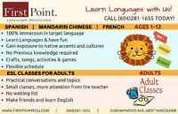 Language learning for kids! (Spanish/ Mandarin Chinese/ French)