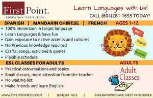 Language learning for kids! (Spanish/ Mandarin Chinese/ French) North Shore Greater Vancouver Area image 1