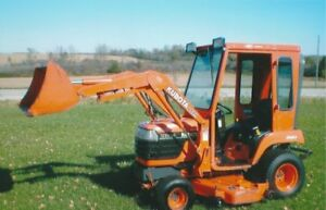 KUBOTA BX2200 compact tractor  with loader, mower and cab