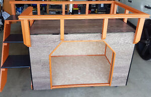 Custom made interior bed and doghouse.