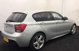 Silver BMW 118 2.0TD 143bhp Auto 2013 d M Sport 5 door FROM £45 PER WEEK!