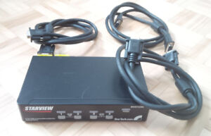 Switch KVM VGA, clavier, souris USB 4 port - Starview
