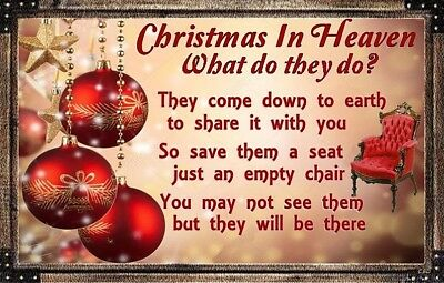 (Christmas In Heaven) sign, plaque, heaven, holidays, deceased, wall decor