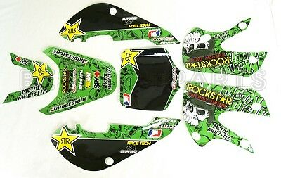 (ROCK$TAR METAL MULISHA GRAPHICS DECAL KIT KAWASAKI KLX110 KLX 110 KX 65 NEW Z262)