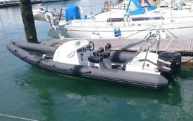 RIB 7m Phantom racing with 175HP Mercury Optimax