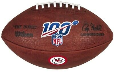 Official 100 Year NFL Leather Game Football by Wilson Kansas City Chiefs Logo Wilson Official Nfl Game Football