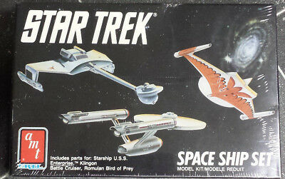 AMT ERTL STAR TREK SPACE SHIP SET BAUSATZ MODEL-KIT  Neu OVP