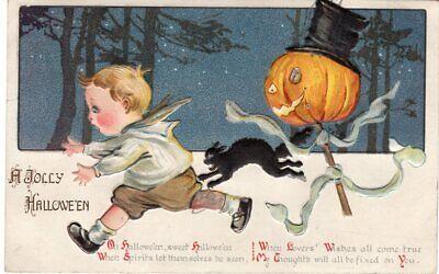 GOTTSCHALK DREYFUSS & DAVIS, HALLOWEEN POSTCARD SERIES 2696 EMBOSSED VERSION](Davis Halloween)