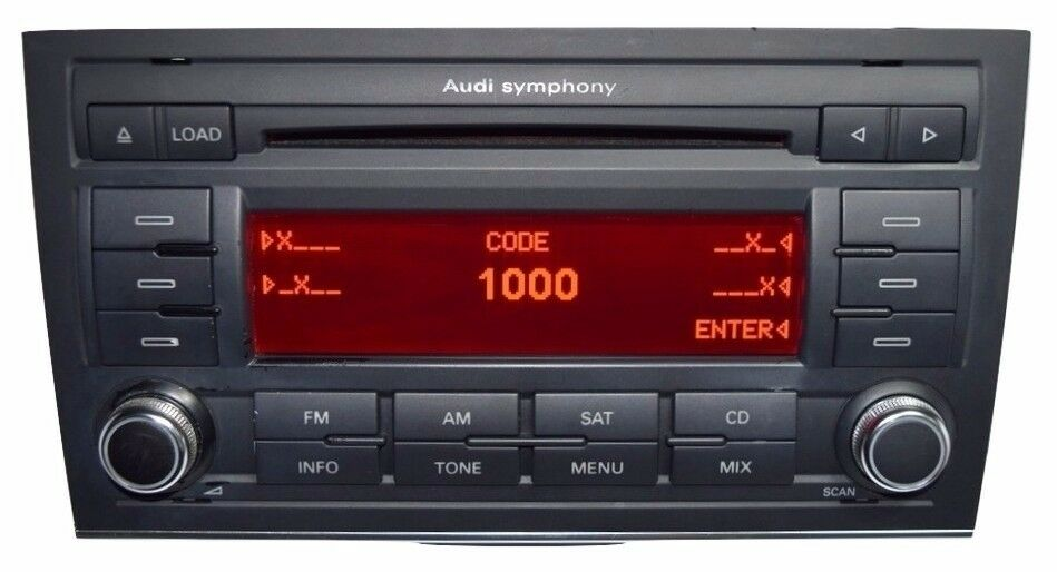 audi a4 symphony ii cd player radio stereo b7 2006 2007. Black Bedroom Furniture Sets. Home Design Ideas